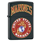 Zippo Marines With Logo Black Matte Lighter