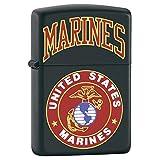 Zippo Marines With Logo Black Matte Lighter