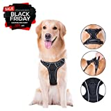 Cos2be Dog Vest Harnesses,Soft Adjustable Reflective No Pull Harness-Outdoor Pet Vest,No Chock,No Slip Various Size Available (Large)