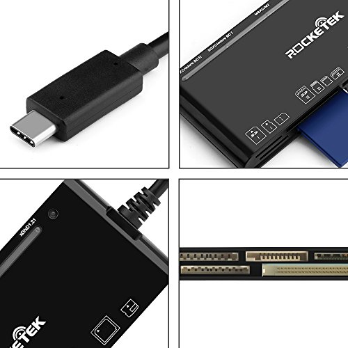 Rocketek Type C XD Card Reader, USB C 3.0 Memory Card Reader/Writer for CF Card, xD Card, SD Card, Micro SD Card, MS Card & MS micro Card | Build in 13cm Cable | Read 5 Different Cards Simultaneously by Rocketek (Image #6)