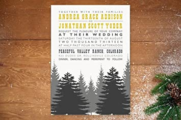 Amazon.com: Enchanted Forest Wedding Invitations by TwoBirds P ...