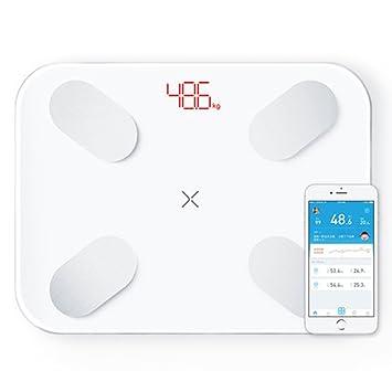 Balanzas De Baño De Precisión Balanzas Inteligentes Hogar Soporte Premium Bluetooth App Porcentaje De Grasa Balanza De Pesas Digital Scale.