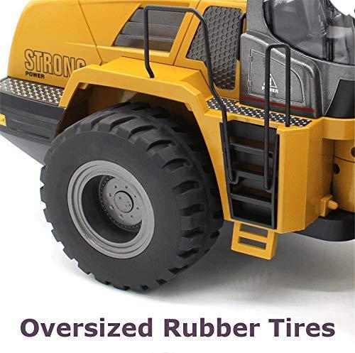 Top Race TR-213 - Tractor de construcción con Control Remoto Completo de 10 Canales, Carga Frontal de Jumbo, Juguete de Metal para excavar hasta 3.5 Libras, ...