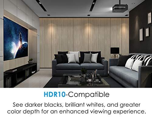 Optoma UHD51A True 4K UHD Smart Projector | Bright 2,400