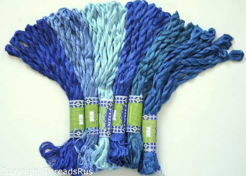 new-threadnanny-60-skeins-of-silky-hand-embroidery-cross-stitch-floss-threads-blue-tones