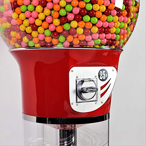 Giant Wizard Spiral Gumballs Vending Machine Height 5'6'' - $0.25 - for Gumballs (Red) by Global Gumball (Image #7)
