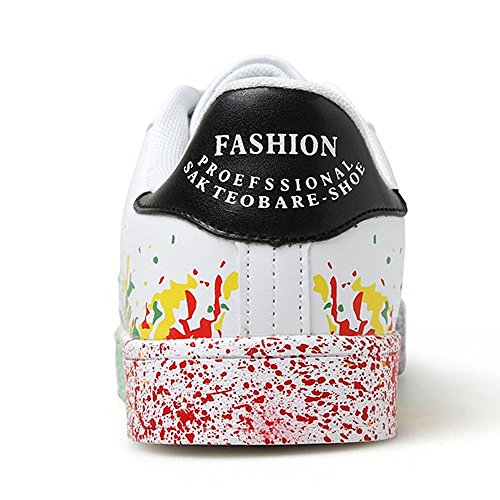 Basse Scarpe Multisport Donna Sneakers 3 nero bianca Zhenghewyh Fitness Outdoor Ginnastica Uomo Hxw1nq4I