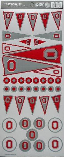 Sports Solution Ohio State Pennant Decorative Sticker ()
