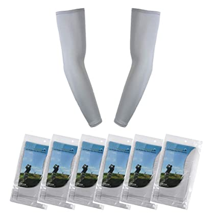 58cf69d052 Pack of 6, The Elixir Arm Sleeves Sun Block UV Protective Compression Arm  Cooling Sleeves