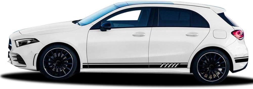calcoman/ía para Maletero de Techo de Coche Pegatina de Rayas Laterales para Falda OceanAutos para Mercedes Benz Clase A W177 A35 A45 S W176 AMG