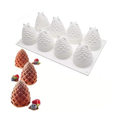 Molde de silicona para pasteles de pino con forma de cono de queso ...