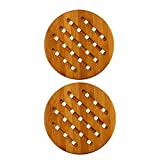 Bamboo Collection Heavy Duty Trivet Set (2, Diameter:7.09'' in)