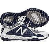 New Balance Boys' TY4040 Turf Baseball Shoe, Navy/White, 3.5 M US Big Kid