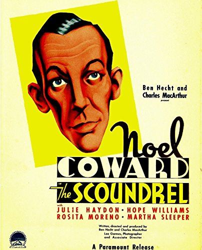 Posterazzi The Scoundrel Noel Coward On Midget Window Card 1935. Movie Masterprint Poster Print (24 x 36)