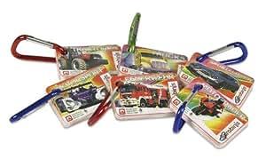 """Nürnberger-Spielkarten 1430 Karabini - Set di 6 mini mazzi per gioco """"Famiglie"""" con moschettone, motivo: tecnologia [importato dalla Germania]"""