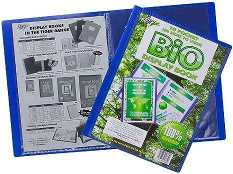 Tigre A4 azul pantalla de presentación libro con 40 bolsillos (80 ...