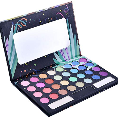 - JPJ(TM)Eye Shadow 1pcs 32 Colors Girls Sexy Charming Matte Shimmer Chunky Eyeshadow Palette Pop Colors Blendable Palette