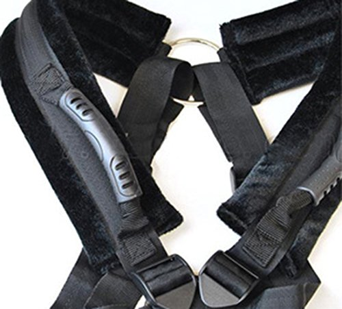 USUNO Durable and Comfortable Strap for Partners to Explore Exciting Postures .(Black)