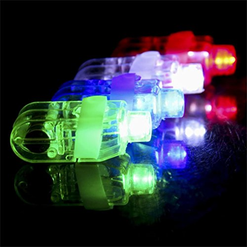 SHOBDW Party Supplies, 10PCS LED Light Up Colorful Flashing Cool Finger...