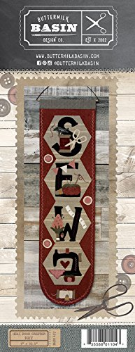 Hexi Door Greeter May Sew - by Buttermilk Basin - Wool Applique Pattern - BMB 1427 9'' x 32.5'' by Buttermilk Basin