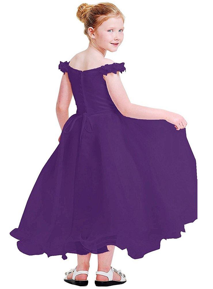PROMLINK - Vestido para de encaje para niñas, Púrpura diseño de ...