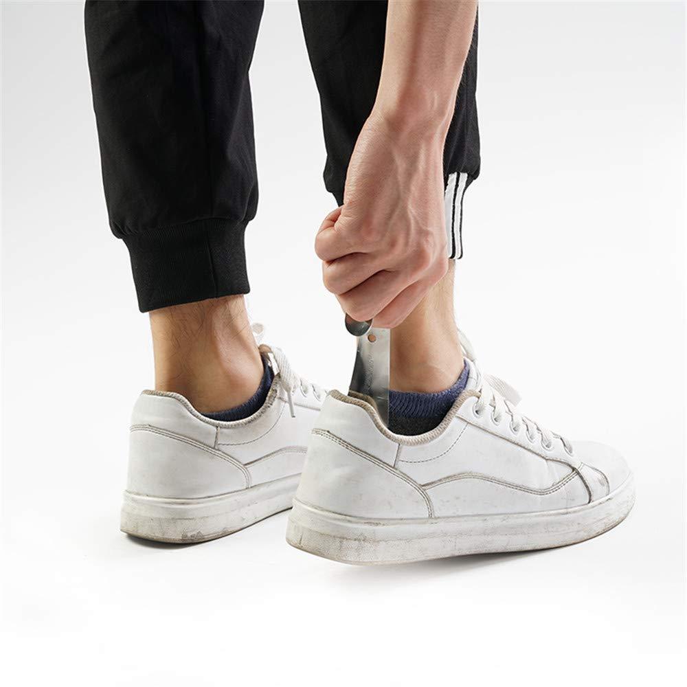 LPKANMR 1 Unid Calzador Profesional 14.5 cm Acero Inoxidable Calzado de Metal Cuerno Cuchara Zapato Calzador Herramienta de Levantador