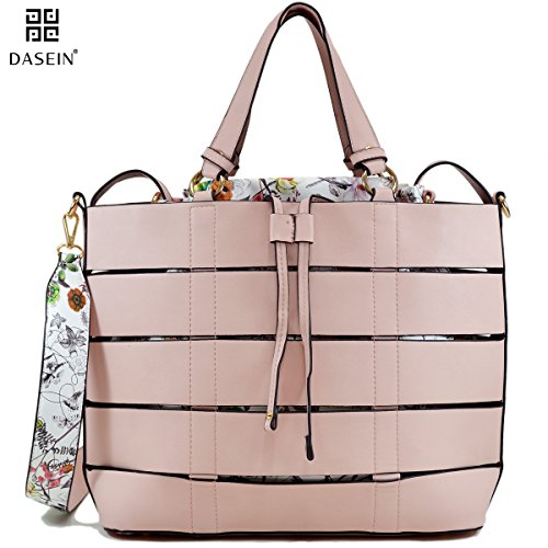 dasein-designer-2-in-1-set-tote-bag-shoulder-bag-handbags-w-floral-bucket-bag-inside-xl7359