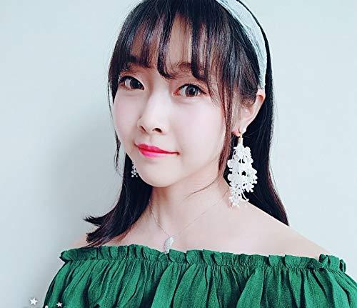 (fu-mei Flower Pearl Earrings earings Dangler Eardrop Women Girls Flower duolei si Creative Personality Fairy Long Necklace Pendant Tassel Earrings)