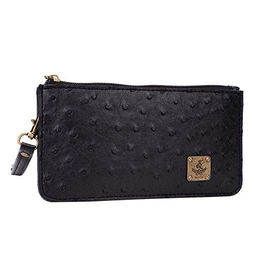 Beiqi Fashion 2015 Women Ostrich Solid Retro Style Handbag Lady Clutch Wallets