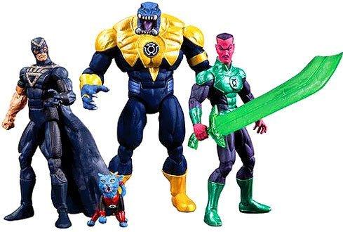 SDCC 2013 DC Comics Super Heroes Black Hand, Green Lantern Sinestro, Arkillo & Dex-Starr Action Figure 4-Pack