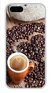 iPhone 5 5S Case A Love for Coffee PC Custom iPhone 5 5S Case Cover White