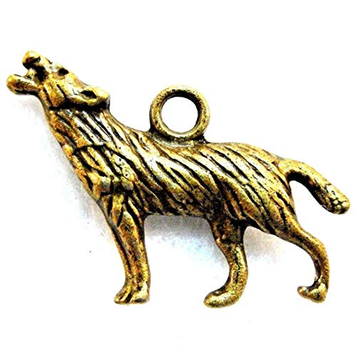 - 10Pcs. Tibetan Antique Bronze 3D Wolf Charms Pendants Earring Drops AN018 Crafting Key Chain Bracelet Necklace Jewelry Accessories Pendants