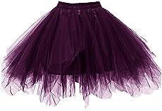 e03de79432 Kileyi Womens Tutu Costume Adult Party Dance Tulle ...