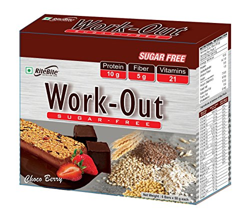 Rite Bite Work Out Sugar Free – 600 g (Choco Berry, Pack of 24)