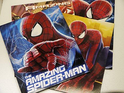 Set of 4 - The Amazing Spider-Man 2 - Portfolio Folders School Supplies  3 Hole Punched 2 Pocket Folder