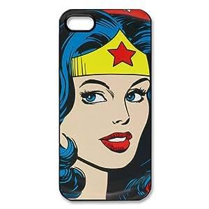 Custom Wonder Woman Cartoon iPhone 5/5s Case Cover