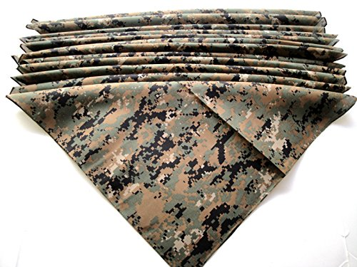 Camouflage Bandana 12 Pieces Camo Wholesale Lot Brand New Party Favors free shipping
