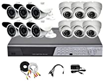 iPower Security SCCMBO0012-2T 16 Channel 2TB HDD Full D1 DVR Security Surveillance System with 12 850TVL Cameras