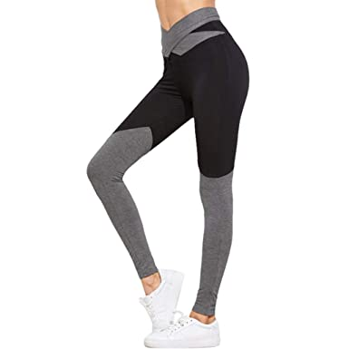 8829079deec2 Amazon.com: Soholulu Comfortable Womens Slim Running Tights Sports Pants  Trousers Clothing High Elastic Fitness Sportswear Yoga Pants: Clothing