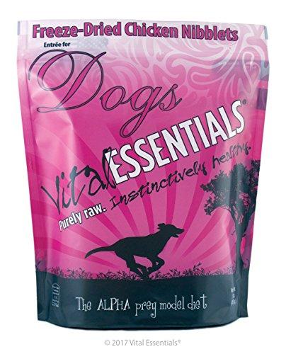 Vital Essentials Freeze-Dried Chicken Nibblets Grain Free Limited Ingredient Dog Entrée, 1 Pound Bag