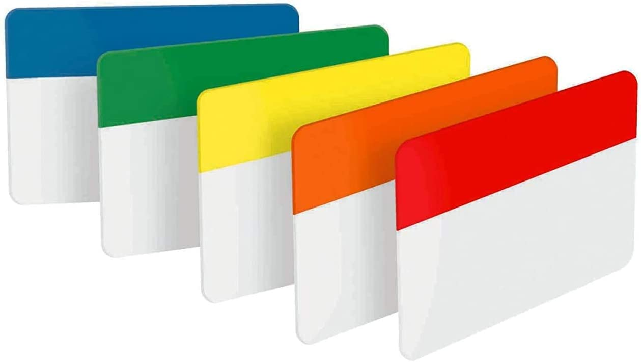 6 Tabs//Color Assorted Colors Post-it Tabs 30 Tabs//Pack 5 Colors Solid 686-ROYGB - 1 2 in