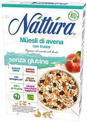Nattura Muesli de avena orgánica con frutas Sin gluten con ...
