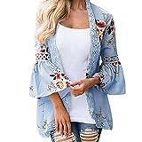 Mose Women Lace Floral Open Cape Casual Coat Blouse Kimono Jacket Cardigan