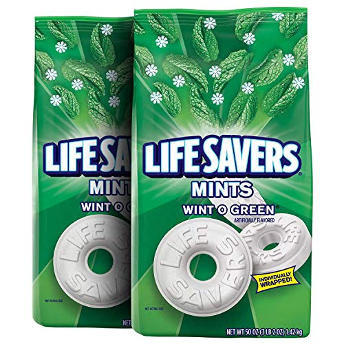 Life Savers PQEGHW Mints Wint-O-Green Hard Candy 50-Ounce Party Size Bag, 4 Pack of 2 Bags by  (Image #1)