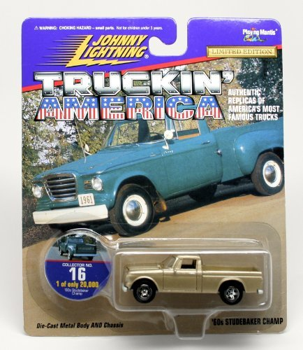 '60s STUDEBAKER CHAMP * COLLECTOR NO. 16 * Johnny Lightning 1997 TRUCKIN' AMERICA COLLECTION 1:64 Scale Die Cast Vehicle * Limited Edition: 1 of only 20,000 *