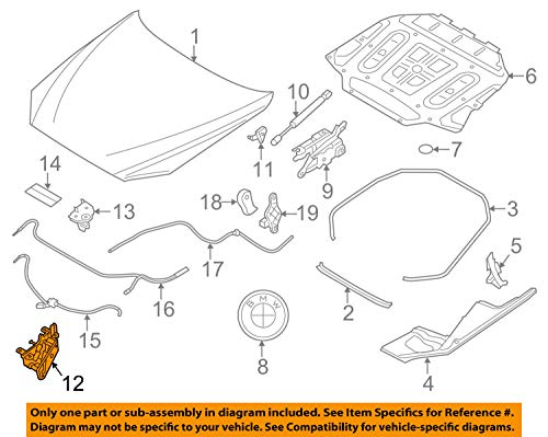 BMW 51-23-7-183-762 Lock, Hood, Passive, Right by BMW (Image #3)