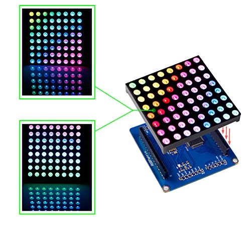 SunFounder Full Color RGB LED Matrix Driver Shield + RGB Mat