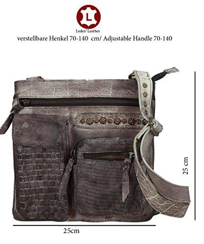 Sunsa, Borsa a tracolla donna Marrone talpa 25 x 25 cm