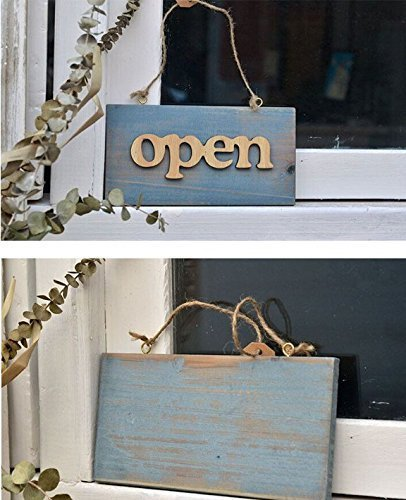 QIQIHOME Letrero / placa de puerta de madera hecha a mano ...