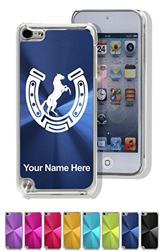 Case for iPod Touch 5th/6th Gen - Horseshoe with Horse - Personalized Engraving Included